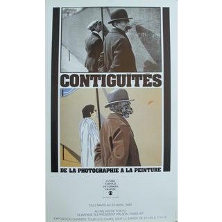 1984 Arroyo Original Exhibition Poster, Contiguités de la photographie à la peinture