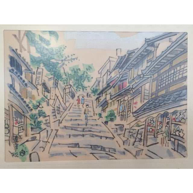 Mid Century Asian Framed Silk Prints - Pair - Image 3 of 8