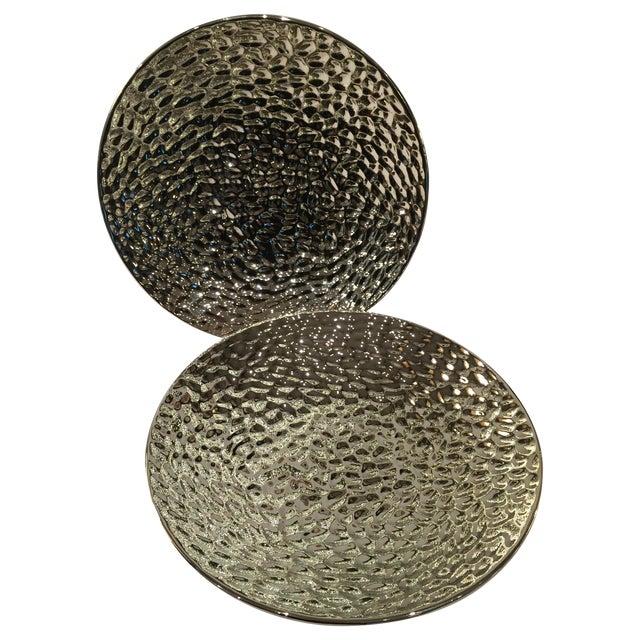 Image of Ceramic Metallic Plates - A Pair
