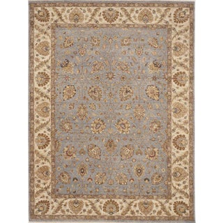 Traditional Hand-Knotted Rug - 9'x 12'