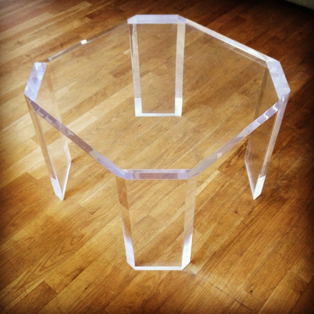 Charles Hollis Jones Vintage Lucite Side Table - Image 2 of 7