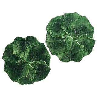 Vietri Italian Majolica Leaf Plates - Pair