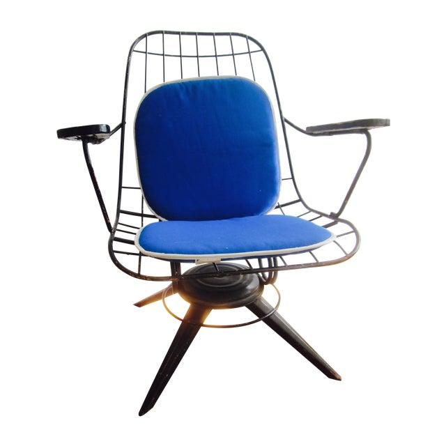 mid century modern homecrest swivel chair cushion chairish. Black Bedroom Furniture Sets. Home Design Ideas