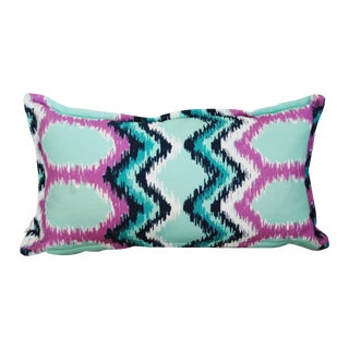 """Dynasty"" Flame Stitch Lumbar Pillow"