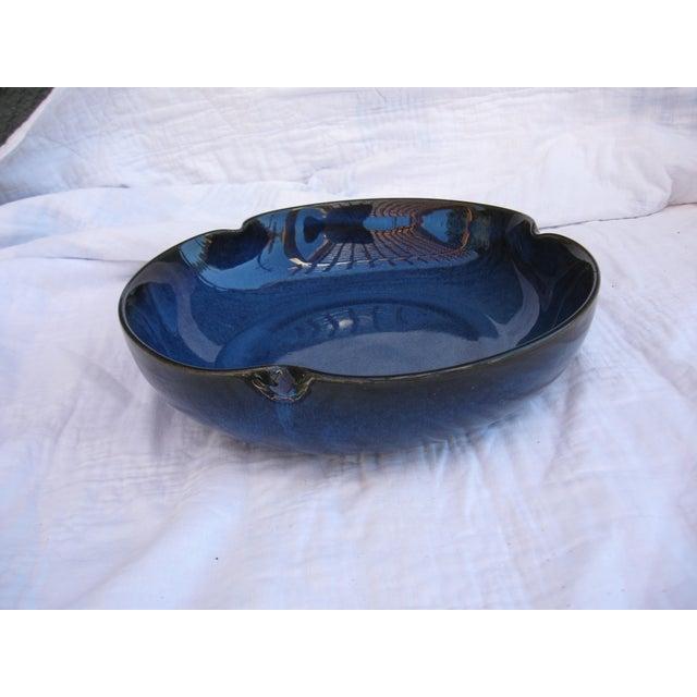 Indigo Pottery Catchall Bowl - Image 4 of 7