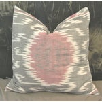 Image of Ikat Suzani Pillow with Linen Back - a Pair.