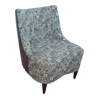 Fabric & Leather Club Chair