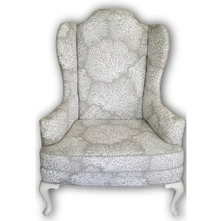 Drexel Heritage Coastal Cottage Coral Wingback Chair