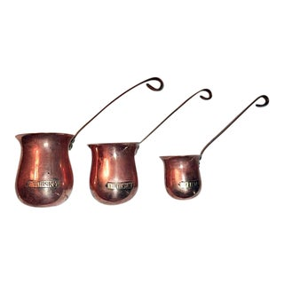 Vintage Copper & Brass Liquor Ladles - Set of 3
