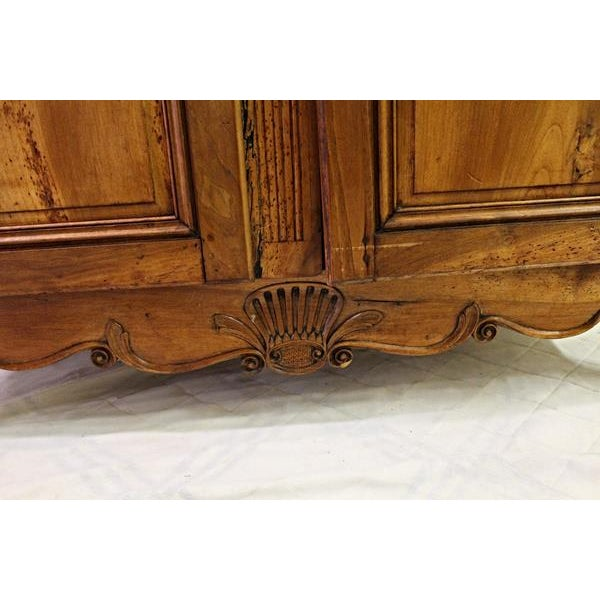 18thC Large French Country Wooden Armoire - Image 7 of 10