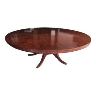Mahogany Round Dining Table With Outside Leafs