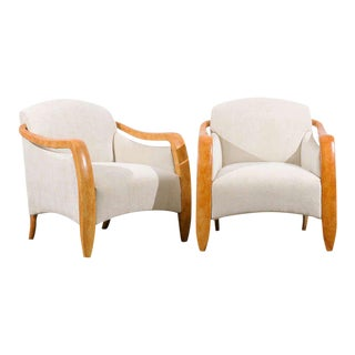 Jaw-Dropping Restored Pair of Modern Club Chairs