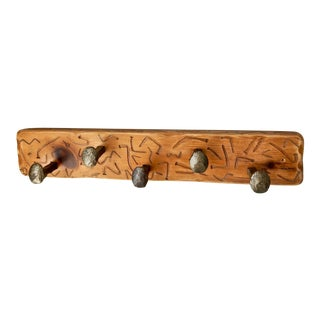 Wood Railroad Spikes Coat Rack