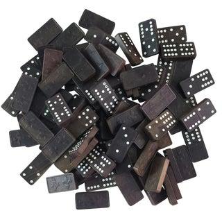 Fleur-de-Lis Wood Dominoes