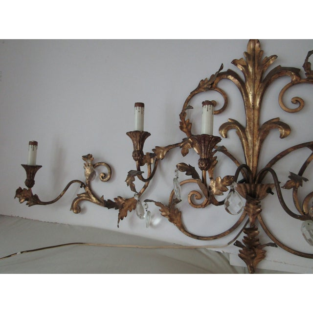 Antique Gold French Luciano Leaf Sconce - Image 4 of 8