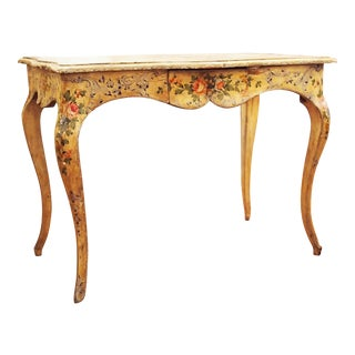 Painted Italian Cabriole Leg Table