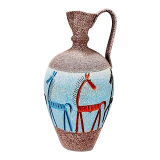 Tall Fratelli Vase With Horses