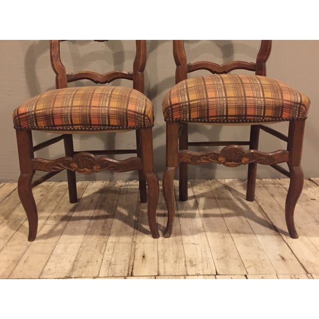 Antique 1900's French Country Side Chairs - Pair - Image 4 of 8