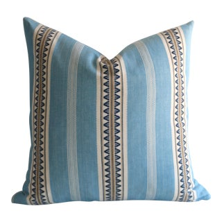 Aqua Serape Stripe Pillow
