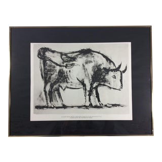 "Vintage ""The Bull"" Pablo Picasso Print"