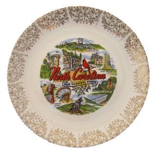 Vintage North Carolina Transferware Plate
