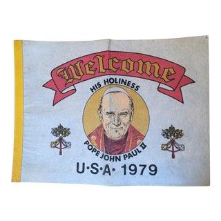 Vintage Pope John Paul II Pennant