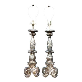 Hollywood Regency Italian Gold Lamps - A Pair