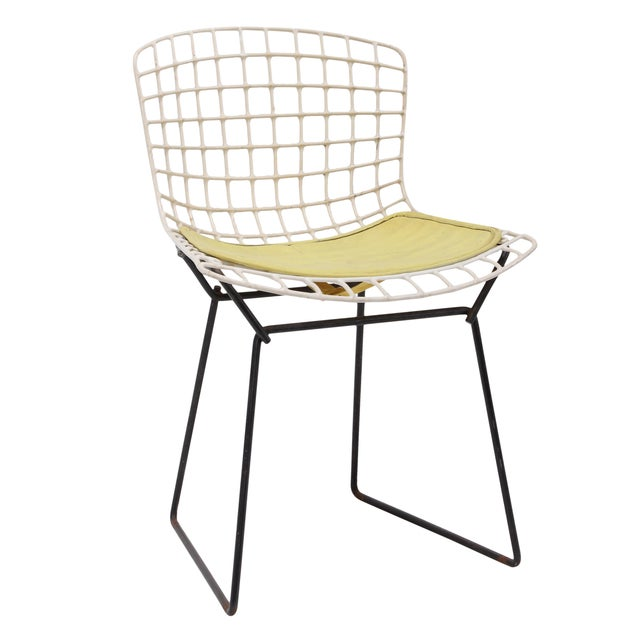 Knoll Bertoia Child Size Chair White Black Ii Chairish