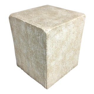 Faux Quarried Stone Side Table