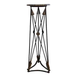 Neoclassical Marble & Iron Pedestal
