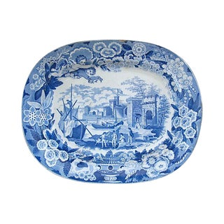 Antique Staffordshire Platter, C. 1820