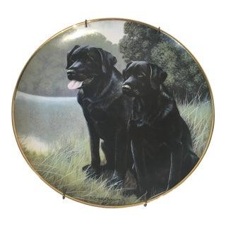 Porcelain Black Labrador Plate