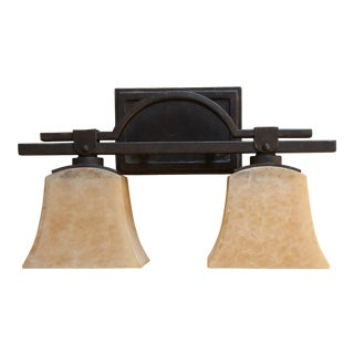 Contemporary Arts & Crafts Style Two-Light Wall Fixture