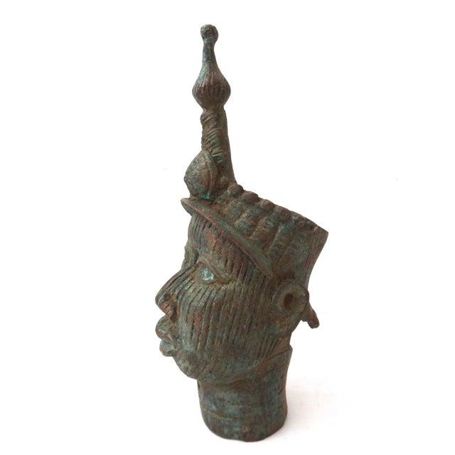 Image of Benin Bronze Brass Head of Oba Nigeria African