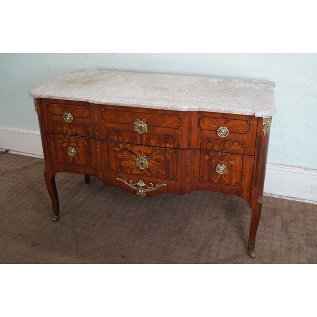 Antique 19th C. French Louis XV Commode Chest - Image 2 of 10