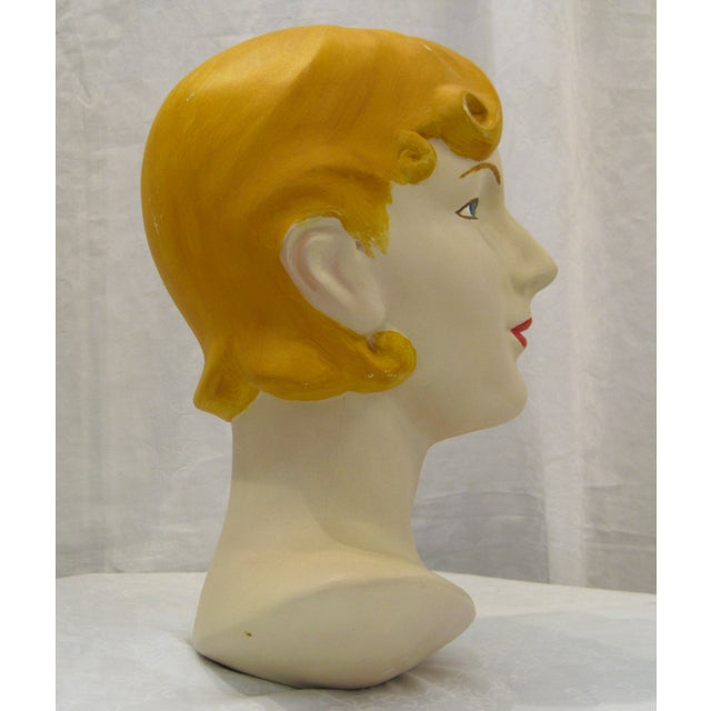 Image of Blonde Vintage Mannequin Head