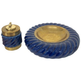 'Tomasso' Barbi Ashtray & Lighter Set