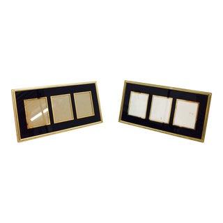 Vintage Black & Gold Frames - A Pair