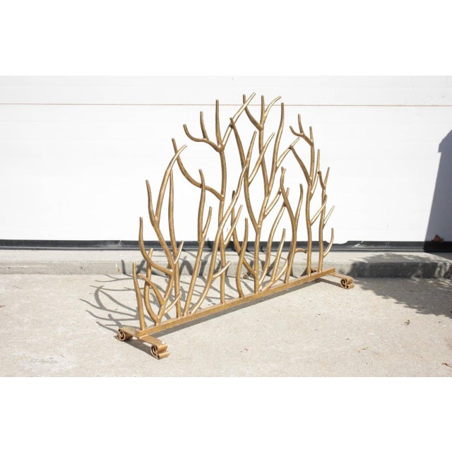 Twig Gilt Painted Fire Screen - Image 2 of 6