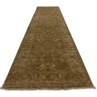 """RugsinDallas Oushak Style Hand-Knotted Wool Runner -2'5"""" X 9'8"""""""