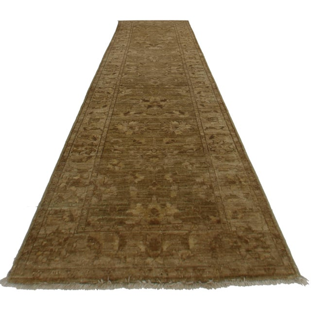 """RugsinDallas Oushak Style Hand-Knotted Wool Runner -2'5"""" X 9'8"""" - Image 1 of 2"""