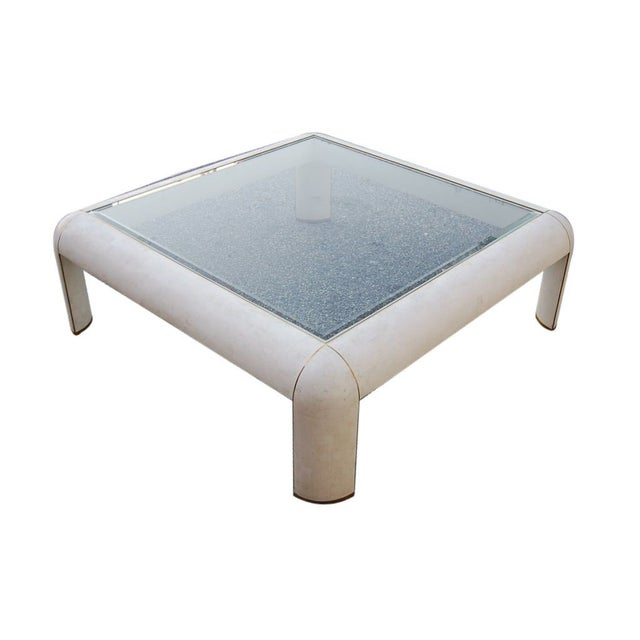 Maitland Smith Coffee Table In Tessellated Stone Chairish
