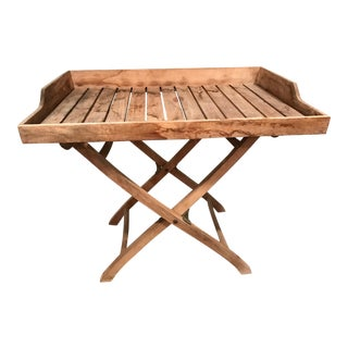 Teak Outdoor Tray Table