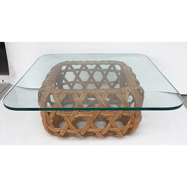 Danny Ho Fong for Tropi Cal Rattan Coffee Table - Image 2 of 7
