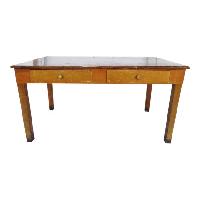 Vintage 1940's Academia Library Table / Desk - Image 1 of 5