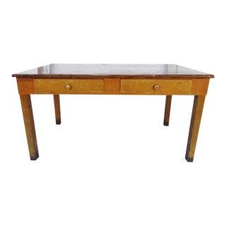 Academia Library Table Vintage 1940's Desk