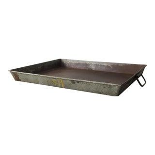Rustic Metal Industrial Tray