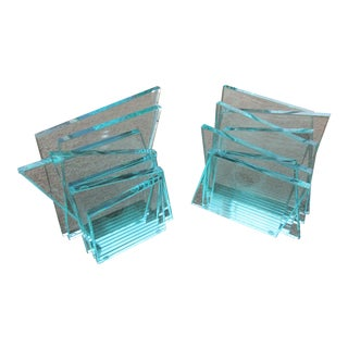 Stacked Glass Bookends
