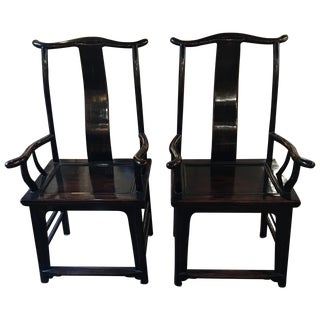 Qing Dynasty Rosewood Chairs- A Pair