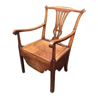18th Century Chippendale Privy/Commode Armchair